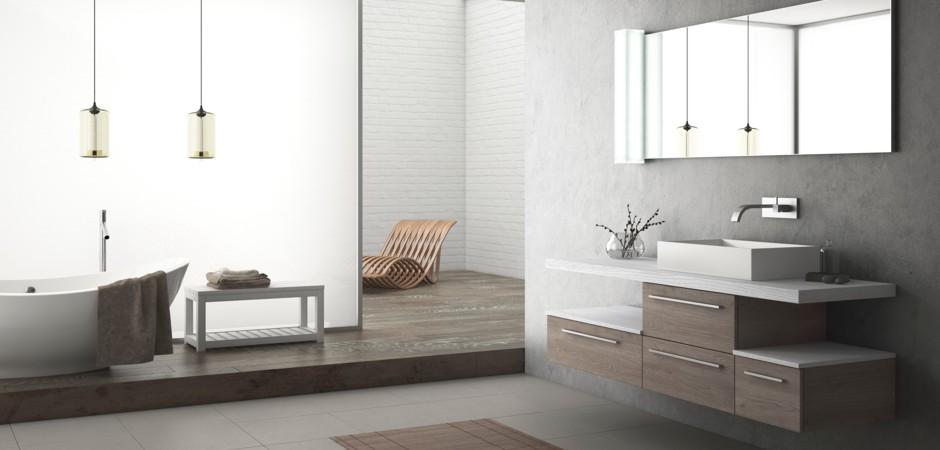 aufsatzwaschbecken mit einer waschtischplatte bad direkt. Black Bedroom Furniture Sets. Home Design Ideas
