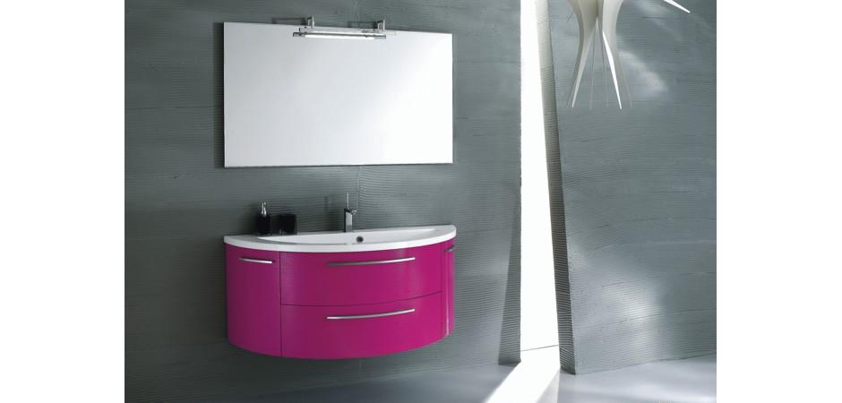 Pink Badmöbel matt oder Hochglanz | Bad-Direkt | {Badmöbel hochglanz 33}