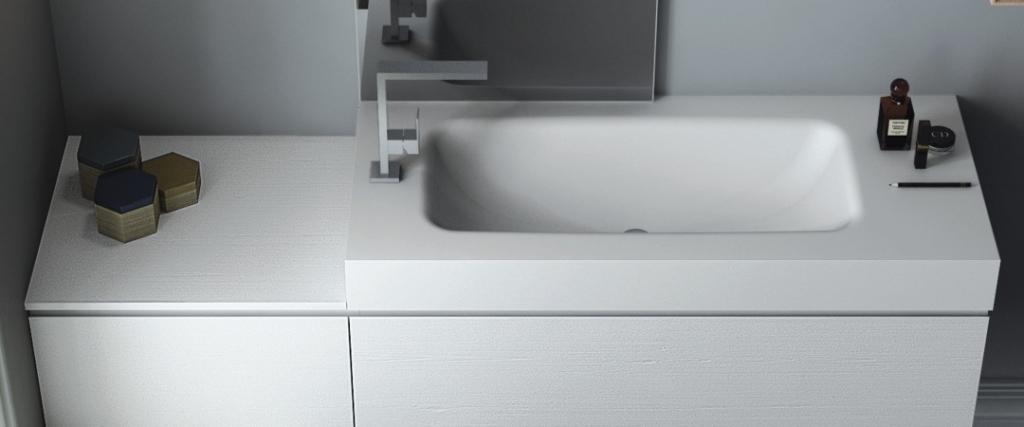Fugenlose CORIAN Waschtische Auf Maß