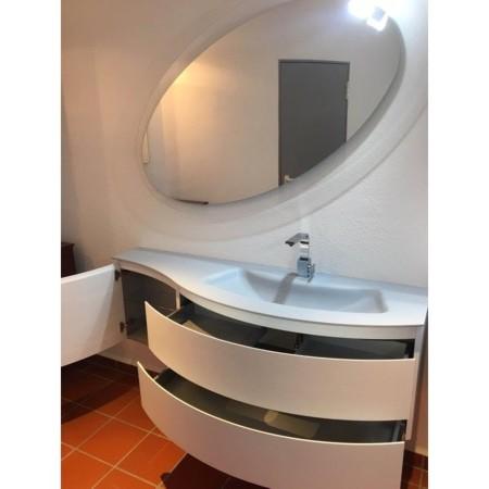 Gerundeter Plexicor Waschtisch Auf Maß Breite 160 Cm