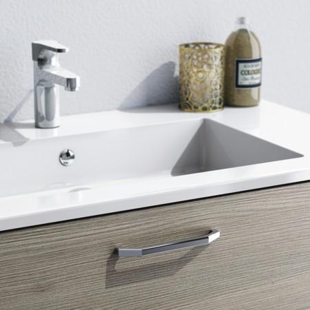 Waschtisch-Unterschrank mit Griff AMSTERDAM aus dem Badmöbel-Programm FLASH.
