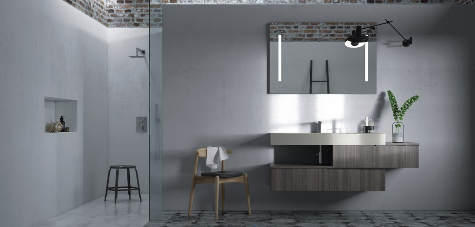 Designer-Waschtisch auf Maß in Weiß.