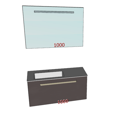 Badplanung Tecnoril-Waschtisch auf Maß Breite 100 cm