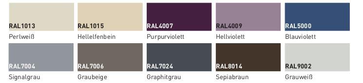 Waschtisch-Oberflächen Geacryl farbig