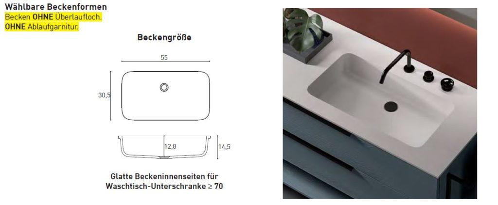 Waschbeckenform für Mineralguss-Waschtische LAVA
