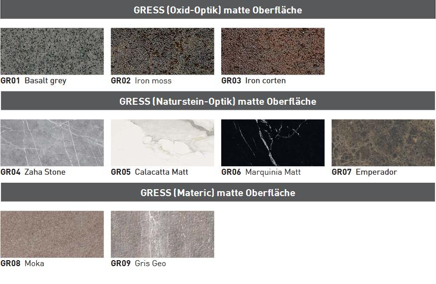 Waschbeckenformen Gress / Neolith - Waschtische