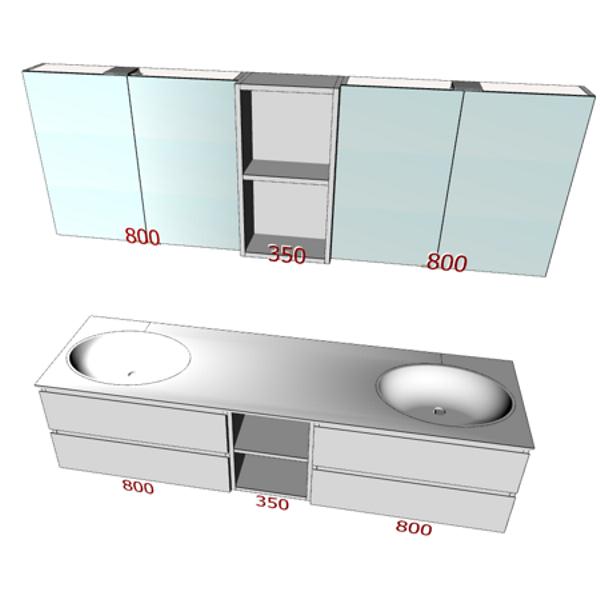 3D-Planung Waschtische und Badmöbel