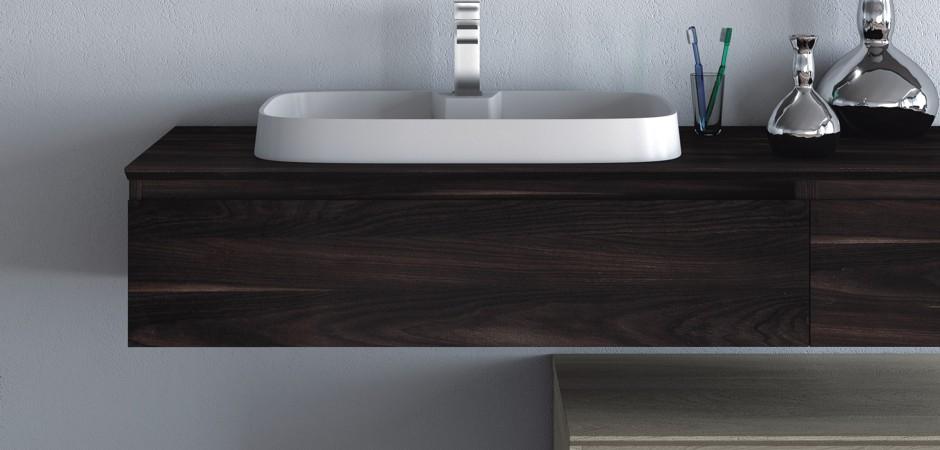 Auflagewaschbecken erfordern einen hohen Reinigungsaufwand durch Spritz- und Kriechwasser
