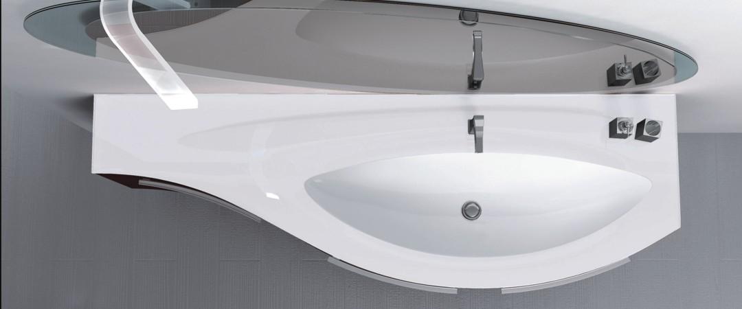 Waschbeckenform gerundet oval