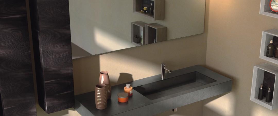 Waschtisch für Hotels ohne Unterbau